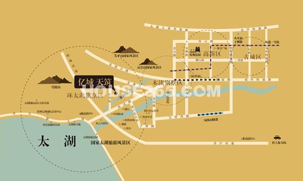 亿城天筑交通图