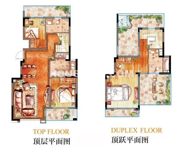 亿城天筑一期合墅22、25、26#G户型3室2厅2卫1厨 138.00㎡.jpg