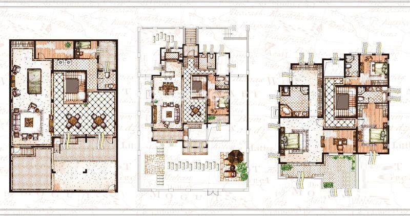 雅戈尔璞墅类独栋B1户型4室2厅5卫499平