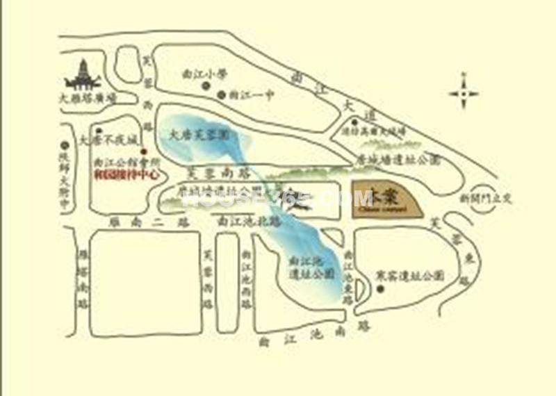 曲江公馆和园交通图