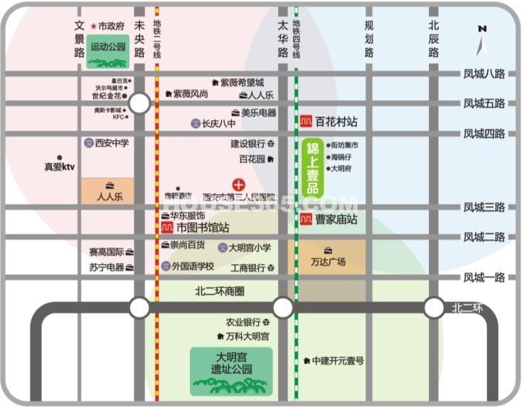 锦上壹品交通图