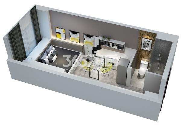 金科米兰尔家公寓27平B户型