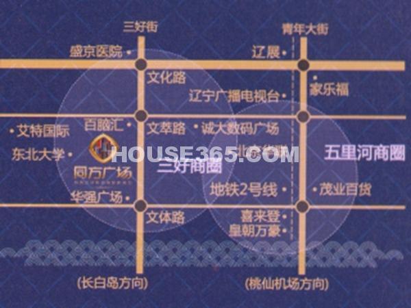 同方广场交通图