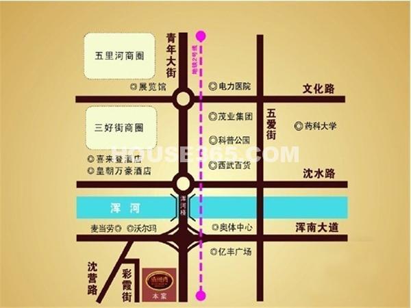 清河湾交通图