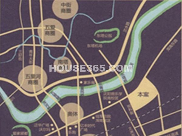 荣盛紫提东郡交通图