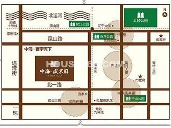 中海盛京府交通图