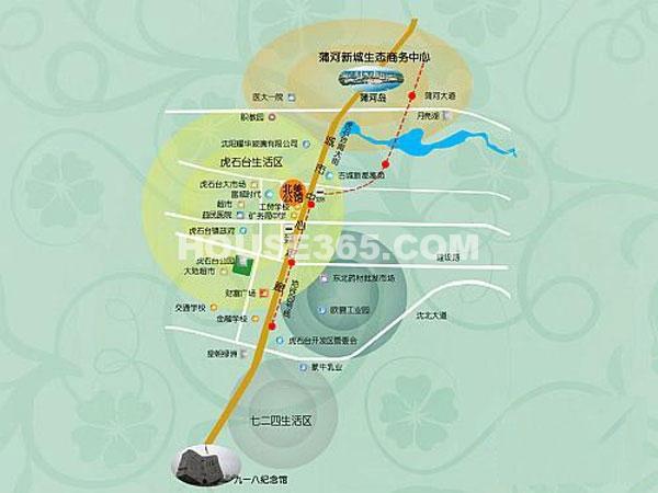 北美公馆交通图