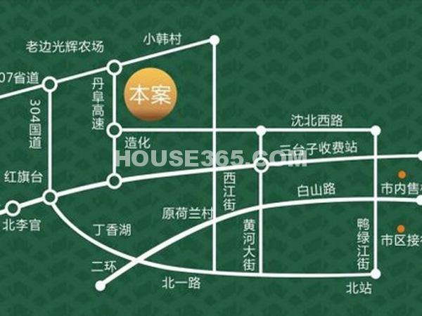幸福温泉小镇交通图