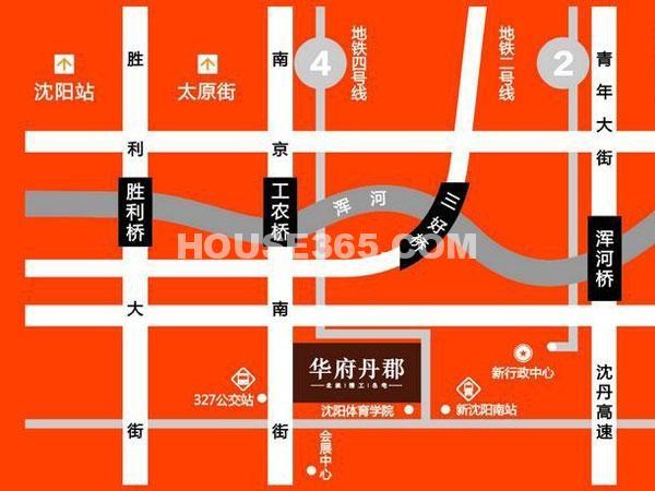 华府丹郡交通图