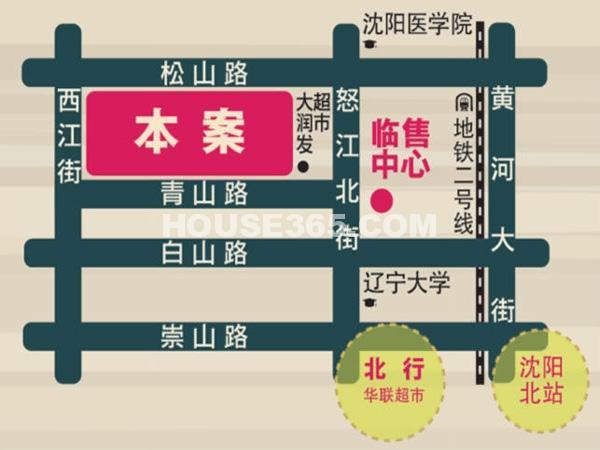 康华朗香邸交通图