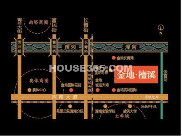 金地檀溪交通图