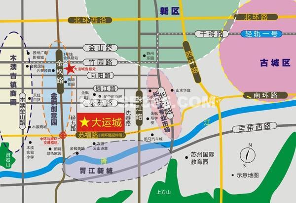 大运城交通图