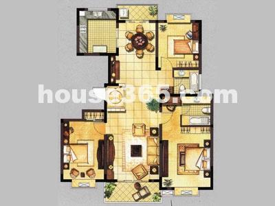 金都花园楼盘户型图三室 无锡365淘房