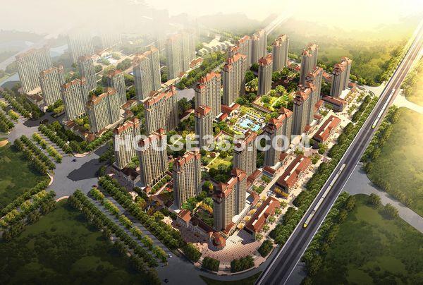 长泰国际社区一期住宅鸟瞰图