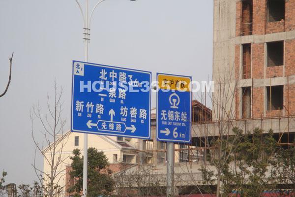 长泰国际社区先锋路口交通指示牌
