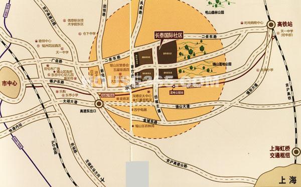 长泰国际社区区位图