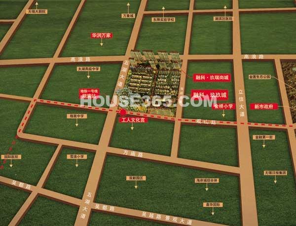 融科·玖玖城交通图