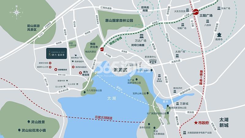 新力翡翠湾交通图