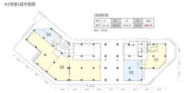 天安智慧城a1号楼一层平面图