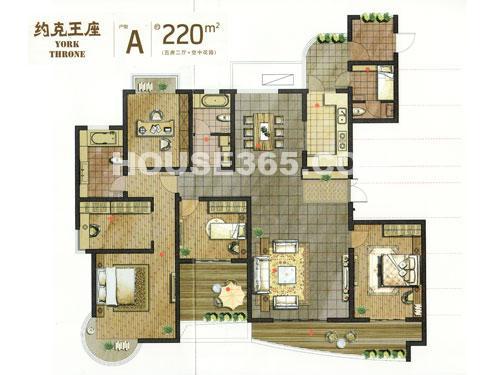 常发豪庭国际约克王座A户型 约220平米