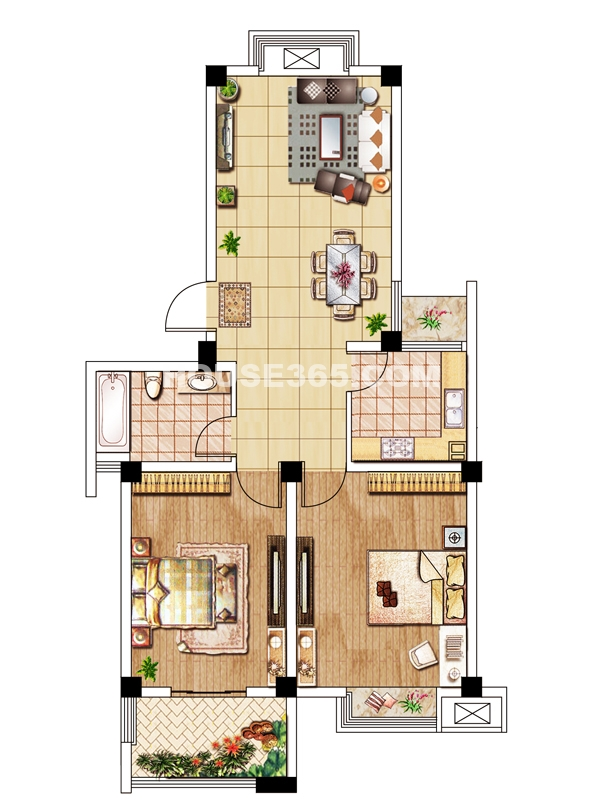 B两室两厅一卫