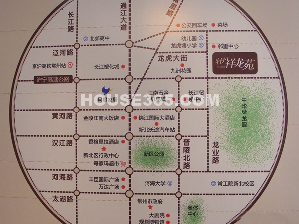 牡丹祥龙苑交通图