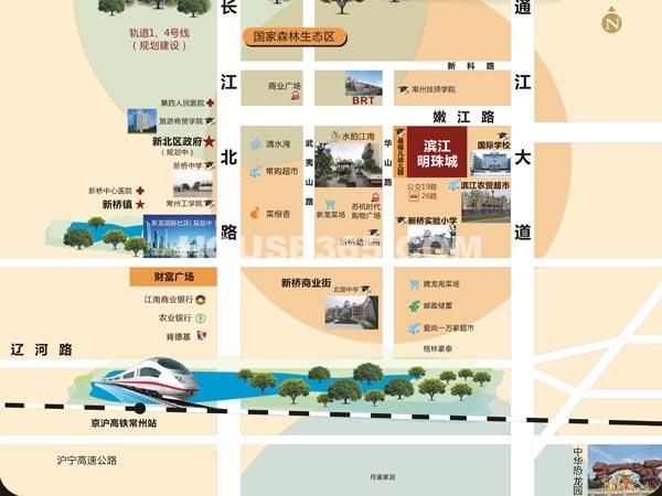 滨江明珠城交通图