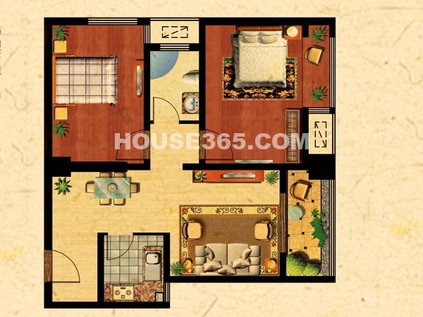 D1户型-两室两厅一卫