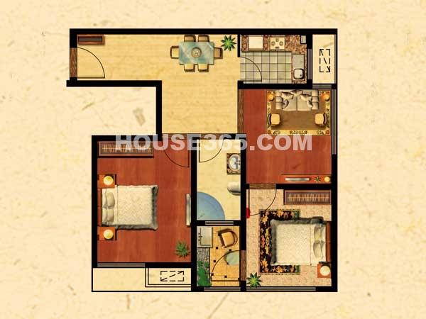 A1户型 两室两厅一卫