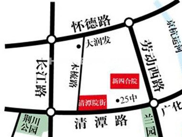 清潭院街交通图