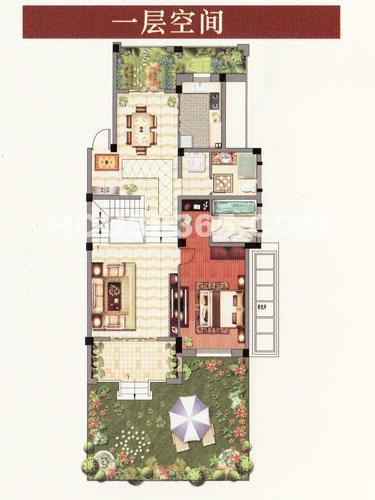 H叠排 四室两厅三卫一层  约209.13