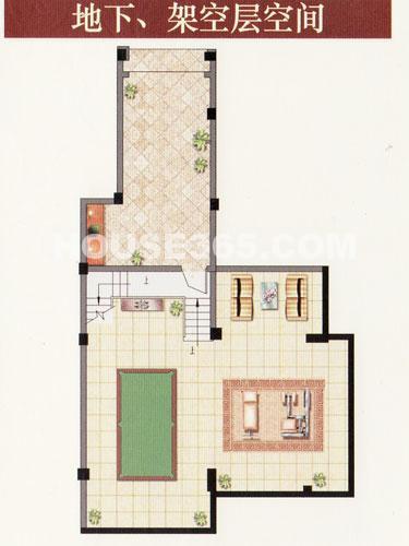 H叠排 四室两厅三卫底层  约209.13