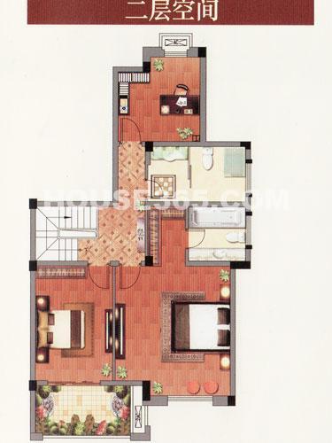 H叠排 四室两厅三卫二层  约209.13