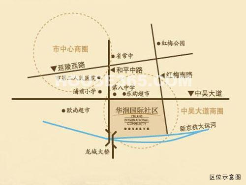 华润国际街区区位图