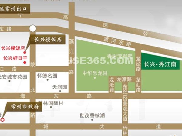 长兴秀江南交通图