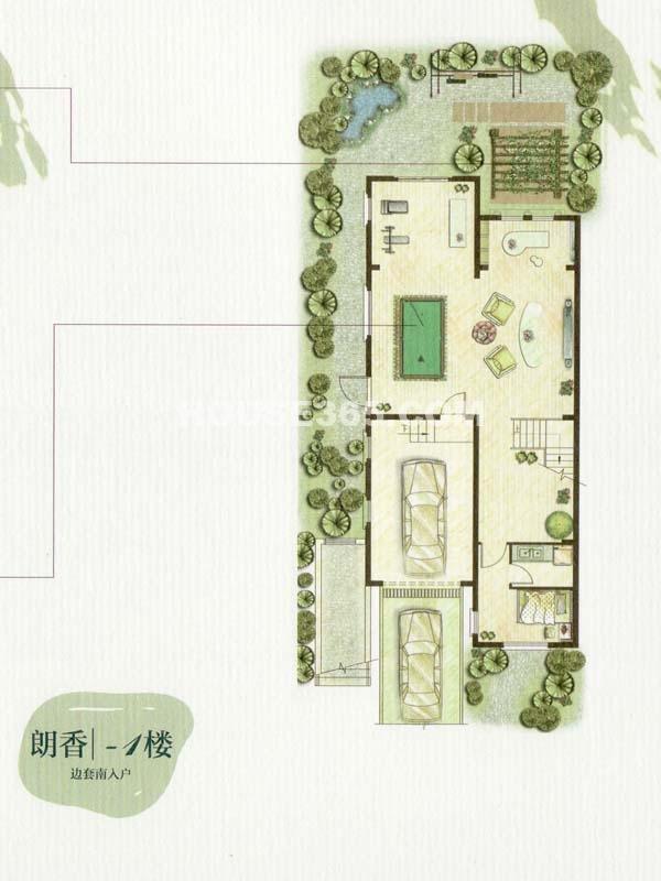 A户型朗香-1楼一室一厅(总户型面积385㎡)