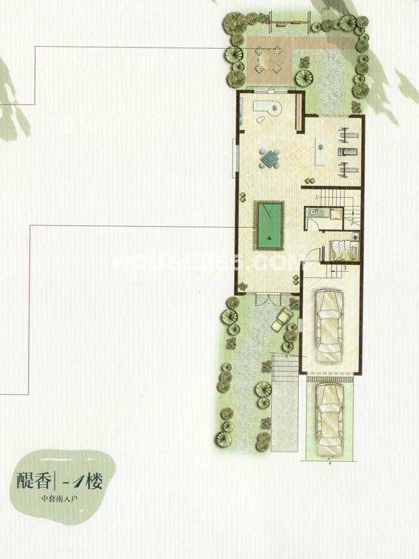 C户型醍香-1楼一室(总户型面积338㎡)