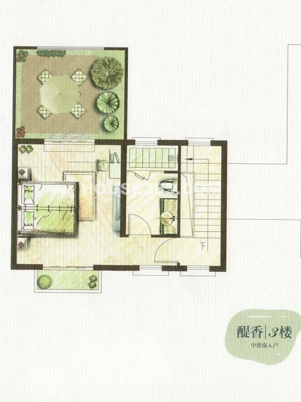 C户型醍香3楼一室一卫(总户型面积338㎡)