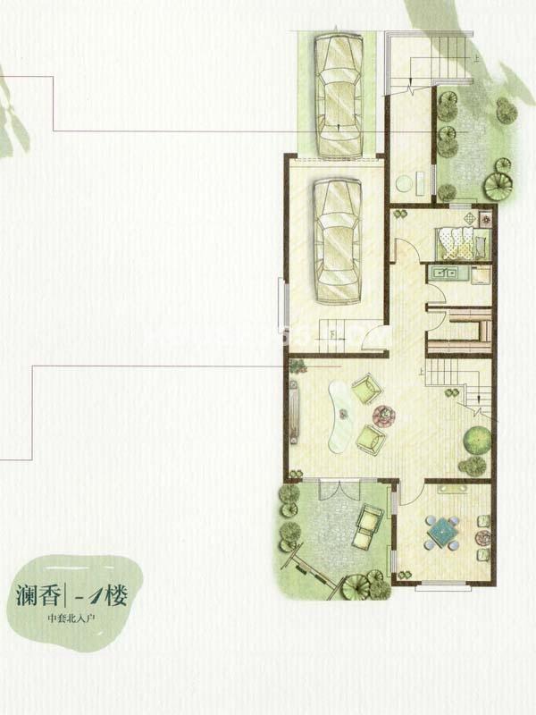 B户型澜香-1楼一室一厅(总户型面积338㎡)