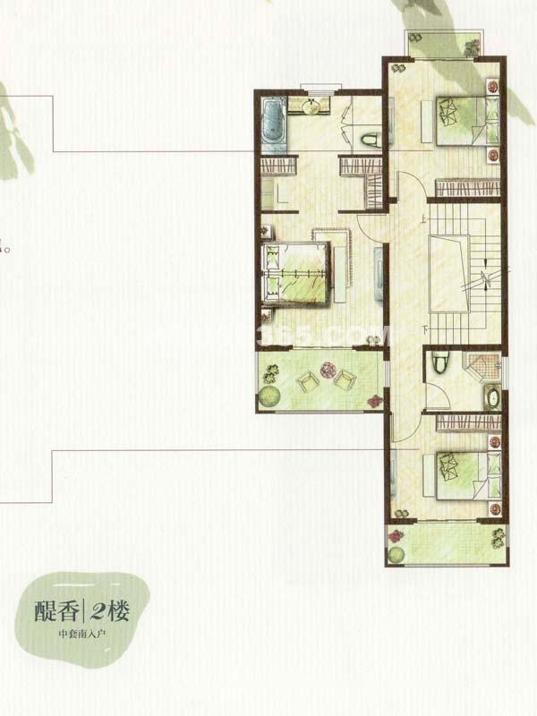 C户型醍香2楼三室两卫(总户型面积338㎡)