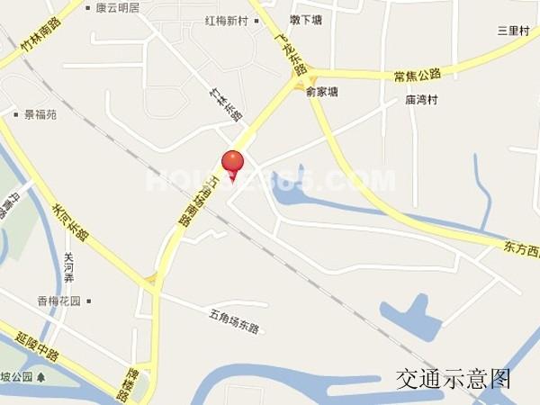 东方尚院交通图