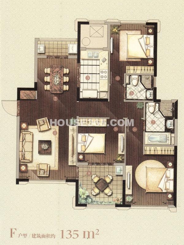 F户型-三室两厅两卫