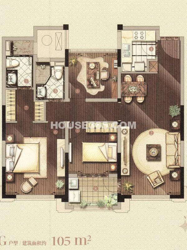 G户型-三室两厅一卫