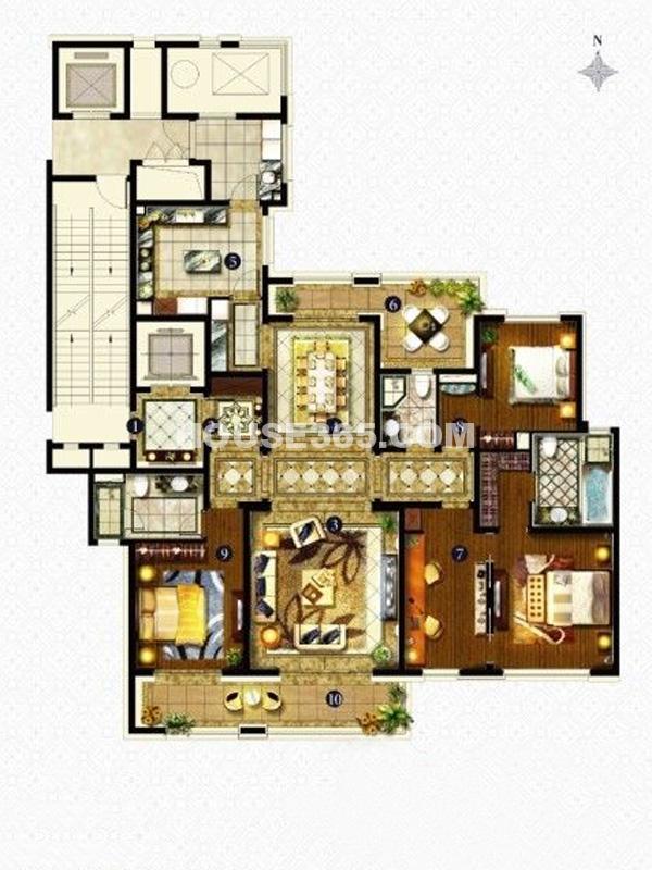 C户型-三室两厅两卫