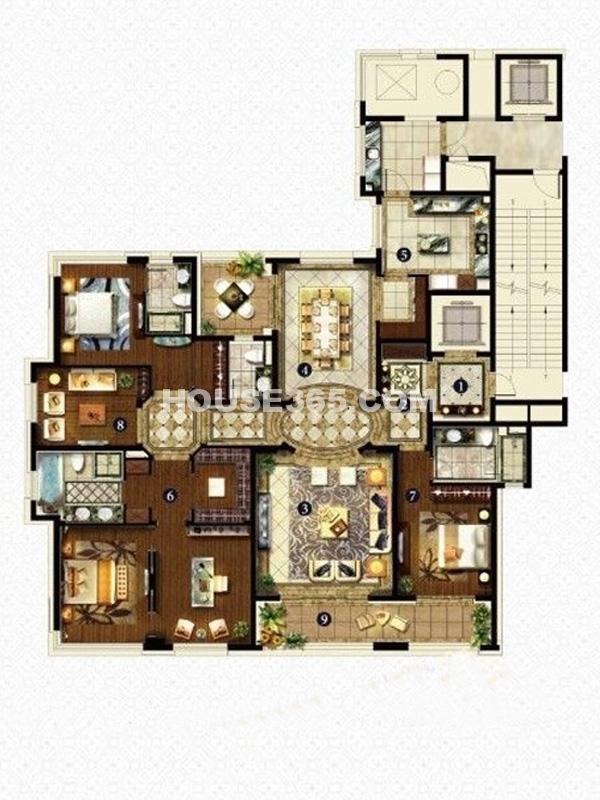 B户型-五室两厅三卫