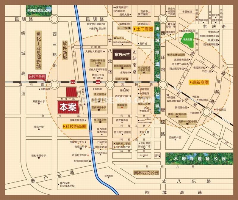东方米兰国际城交通图