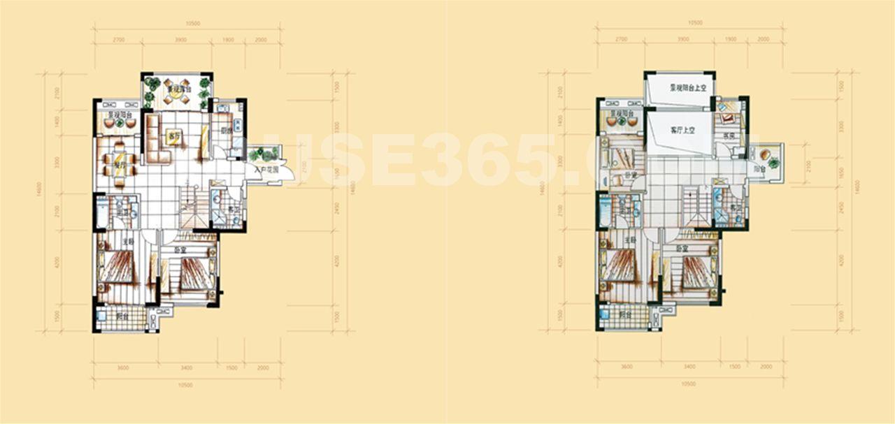 25号楼C'户型215平方米