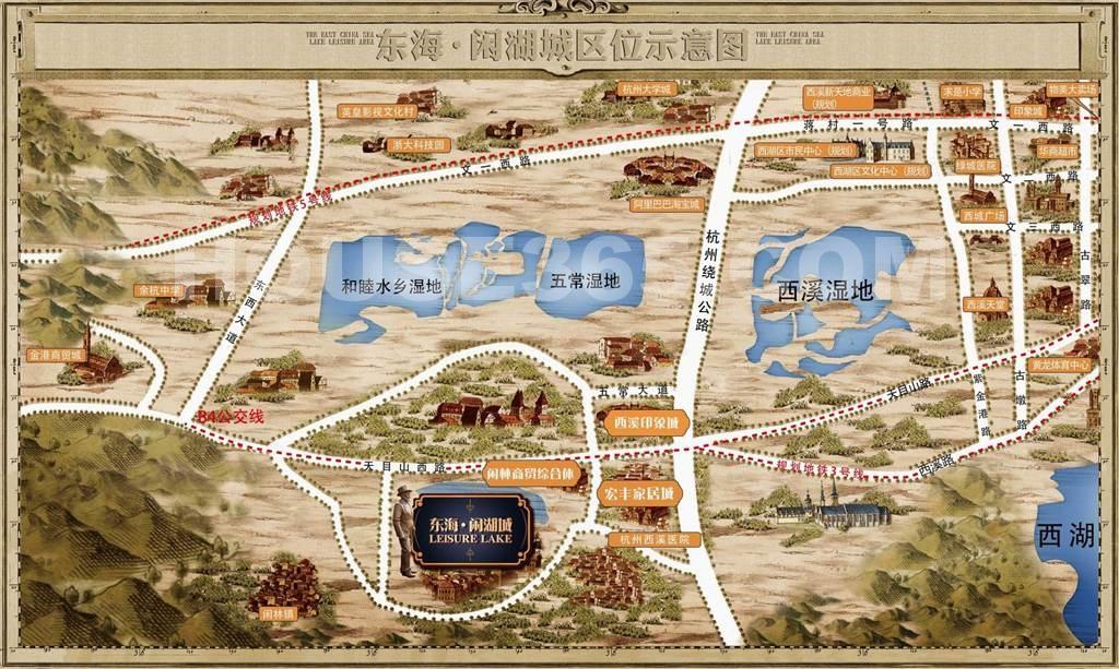 东海闲湖城交通图