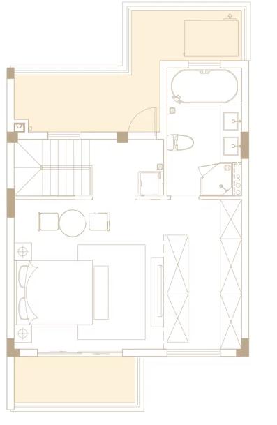 205平户型, 联排别墅-二楼