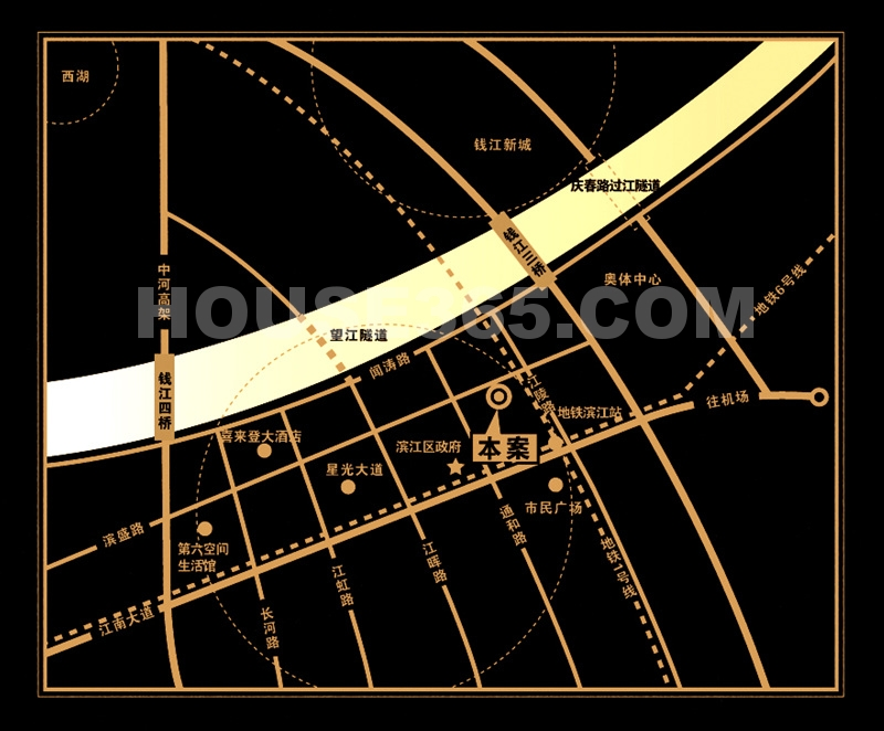 银丰央座交通图